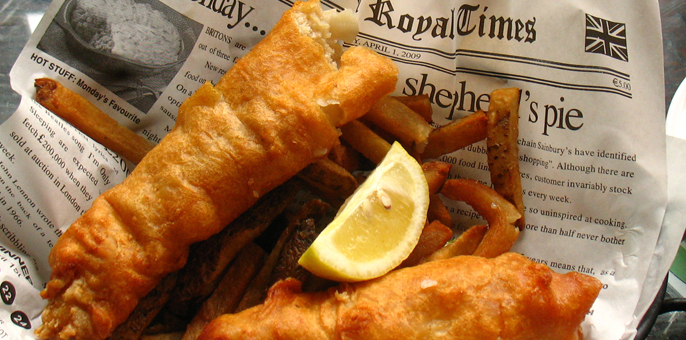Culinary kisses food drink guides for Fish and chips newspaper