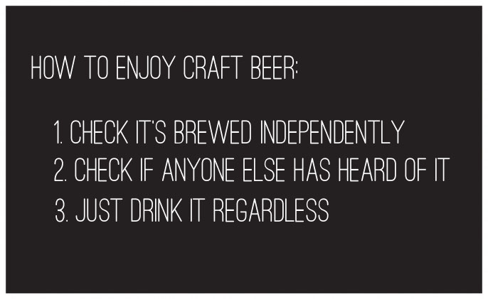 how to drink craft beer image