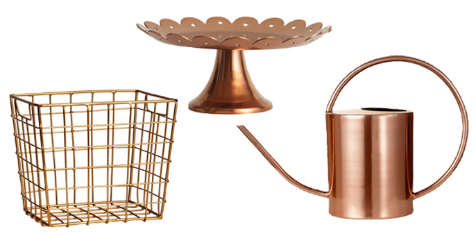 copper homewares H&M