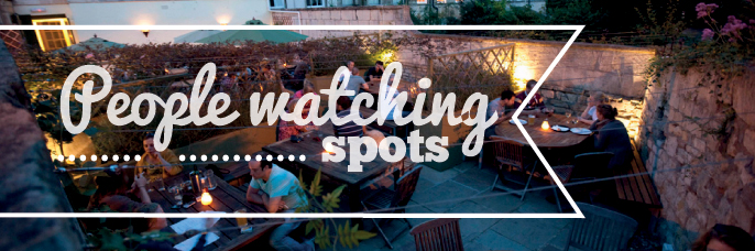 People watching spots