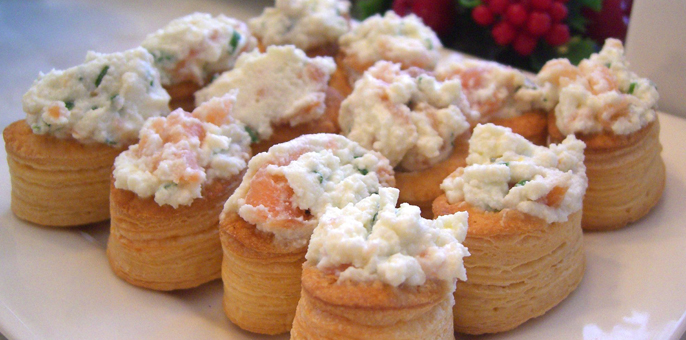 M-Salmon Mousse Vol au Vents