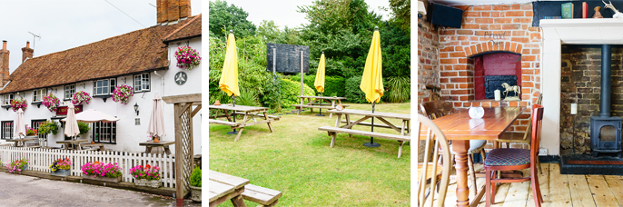 The Castle Inn has a lovely outdoor area, and a homely indoors.