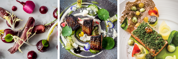 L'Ortolan serves Michelin starred cuisine that is both creative and exceptionally tasty.