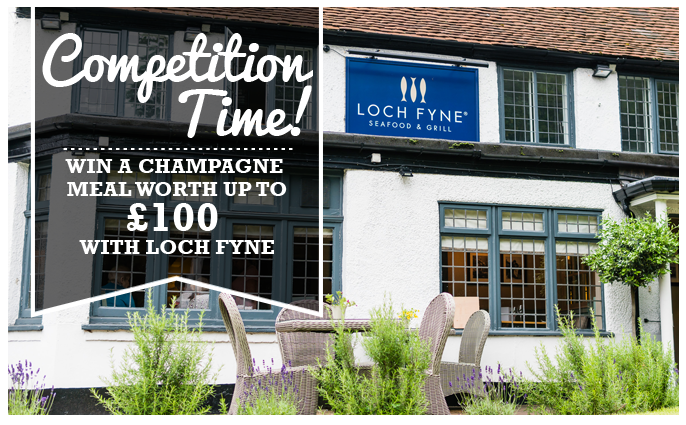 win £100 for champagne seafood