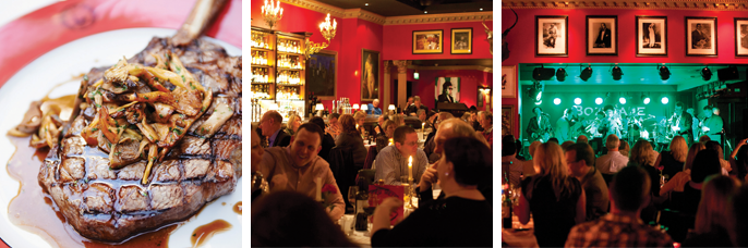Late night dining, Boisdale