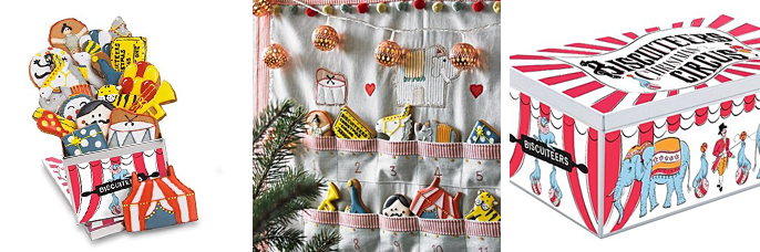 Christmas Circus advent biscuit tin