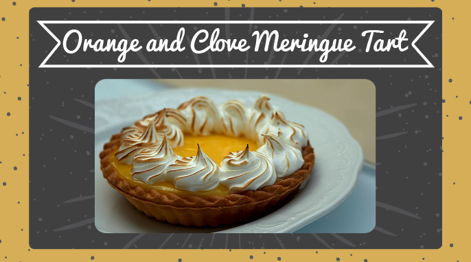 Orange and Clove Meringue Tart