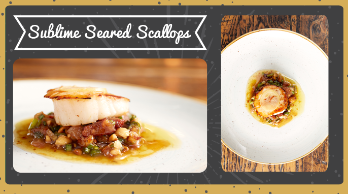 Sublime seared scallops